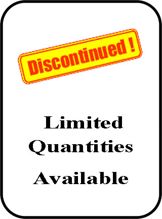 DISCONTINUED ITEMS! LIMITED !