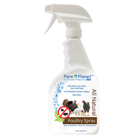 H-1-7 Pure Planet Poultry Spray for Lice Mites & More NEW!