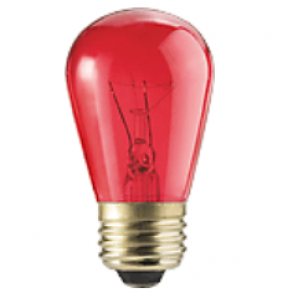 11 Watt RED Incandescent SPECIAL PRICE! Limited! SAVE $2 !