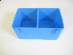 BLH#1 NEW BLUE DIVIDED 1 PINT CAGE CUP FOR SMALLER WIRE! NEW